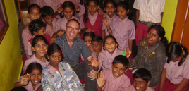 Ken Spillman and Children with Happy Movement